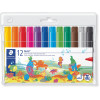 STAEDTLER NORIS CLUB MARKERS Jumbo Colouring Wlt12 Asst