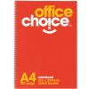 OFFICE CHOICE SPIRAL NOTEBOOK A4 - 210x297mm 120Pg SB