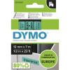 DYMO D1 LABEL CASSETTE 12mmx7m -Black on Green