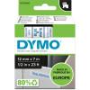 DYMO D1 LABEL CASSETTE 12mmx7m -Blue on White