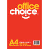 OFFICE CHOICE BINDING COVERS A4 250 Micron Clear