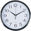 ITALPLAST 30CM WALL CLOCK Black Frame/White Face