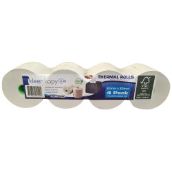 KLEENKOPY Register Rolls 80MM x 80MM x 17MM Thermal 75m Pack of 4