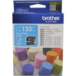 BROTHER LC133C INKJET CART Cyan 600pg