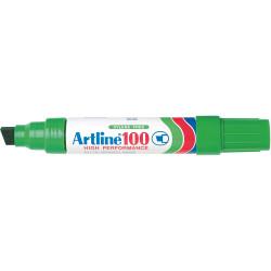ARTLINE 100 PERMANENT MARKERS Large Chisel Green