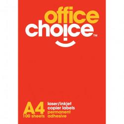 OFFICE CHOICE LASER LABELS Inkjet/Copier 21/Sht 63.5x38.1