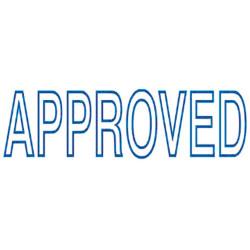 DESKMATE PRE INK STAMP APPROVED Blue A02A