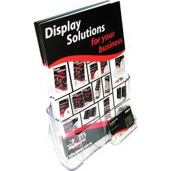 DEFLECT-O BROCHURE HOLDERS A4 Free&W/Mount, + Bus.Card
