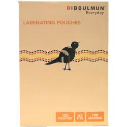 BIBBULMUN LAMINATING POUCHES A3 80 Micron Pack of 50